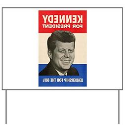 CafePress JFK '60 Yard Sign, Vinyl Lawn Sign, Political Elec