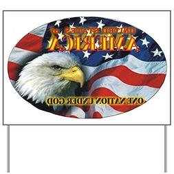 CafePress - One Nation 2 Yard Sign - Yard Sign, Vinyl Lawn S