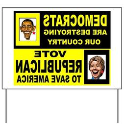 CafePress - VOTE REPUBLICAN - Yard Sign, Vinyl Lawn Sign, Po