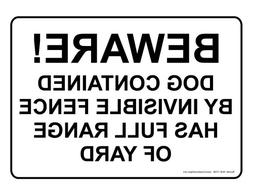 ComplianceSigns Aluminum Beware of Dog Sign, 10 x 7 in. with