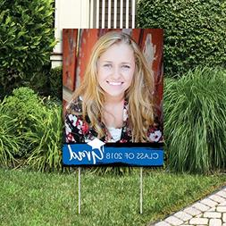 Custom Blue Grad - Best is Yet to Come - Photo Yard Sign - R