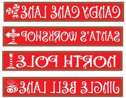 DDI 540576 North Pole Street Sign Cutouts -Pack of 24