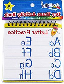 Dry Erase Activity Book - Practice writing Letters and Numbe