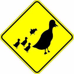 Duck Crossing - 18 x 18 Warning Sign. A Real Sign. 10 Year 3