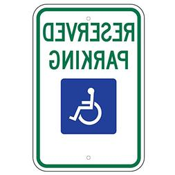 "Federal Handicap Parking Sign  12""x18"" 080 Aluminum"