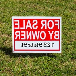 For Sale By Owner Sign Kit  - Premium Double-Sided Waterproo