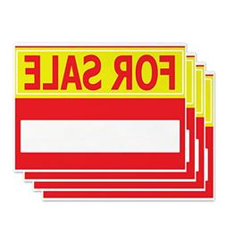 For Sale Signs - 4 Pieces - Rust Free - Clear And Visible Te
