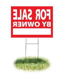 """Headline Sign - Yard Sign,""""FOR SALE BY OWNER"""" Sign with H-Fr"""