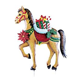 Holiday Horse With Gifts Garden Decor Yard Stake