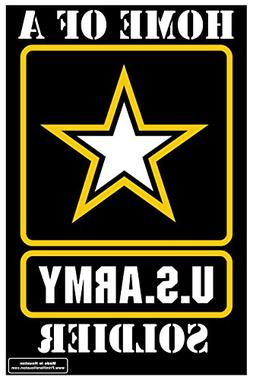 "Home of a US Army Soldier Outdoor Star 12"" x 18"" Yard Sign -"