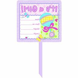 Hugs & Stiches 'It's a Girl' Personalized Yard Sign | Multic