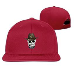 Mens Womens Sheriff Cool Snapback Fitted Flat Bill Hats for