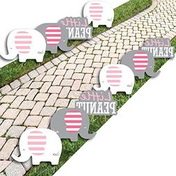 Pink Elephant - Lawn Decorations - Outdoor Girl Baby Shower