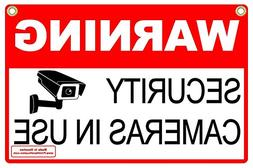 "Signs'R Us WARNING SECURITY CAMERAS IN USE 12"" x 18"" Corruga"