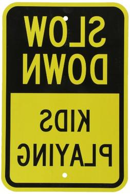 """Slow Down Kids Playing"" - Slow Children at Play Yard Sign-"