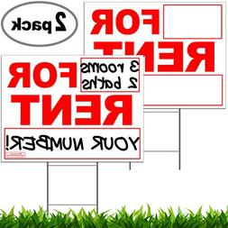 "Vibe Ink for Rent Yard Signs Double Sided Prints on 24"" x 18"