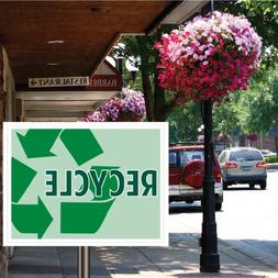 VictoryStore Yard Sign Outdoor Lawn Decorations: Recycle Sig