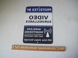 "Video Surveillance Security System 7"" x 10""  Metal Yard Sign"