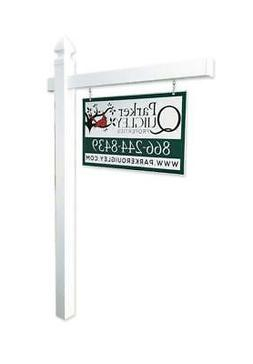 Vinyl PVC Real Estate Sign Post - White - 6' Tall Post White