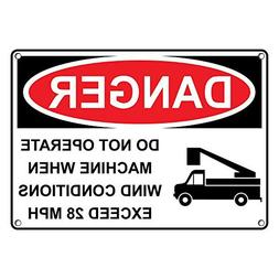 Weatherproof Plastic Vertical OSHA Danger Do Not Open While Machine is in Operation Sign with English Text