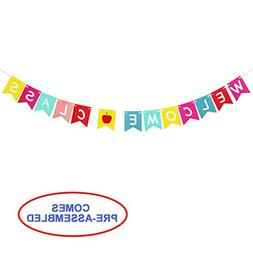 Welcome Class Banner Bunting for Teachers - Back To School H