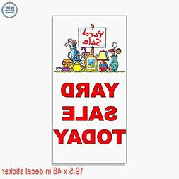 Yard Sale Today Red Vinyl Decal Label Sticker Retail Store S