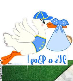 "It'S A Boy"" Yard Stork Sign, Welcome Newborn Baby Lawn Annou"