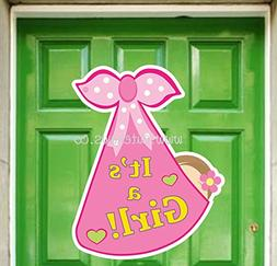 Cute News It's a Girl New Baby Door Sign - Welcome Baby Anno