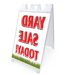 """A-frame Yard Sale Today Sign Double Sided Graphics 