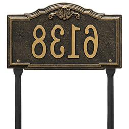 Comfort House Address Sign with Lawn Stakes - Decorative Met