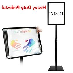 T-Sign Adjustable Heavy Duty Pedestal Poster Stand - Heavy S