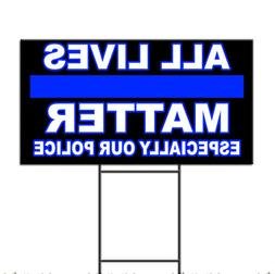 All Lives Matter Especially Our Police Support Corrugated Pl