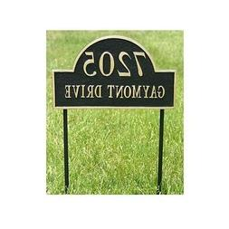 "Aluminum Home Yard Address Arch Plaque - House Sign- 15"" x 9"