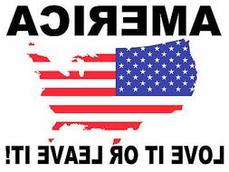 """""""America Love It or Leave it"""" 18x24 yard sign with stake"""