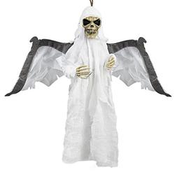 "23.6"" Animated Flying Ghoul Ghost With Sound & Glowing Red E"