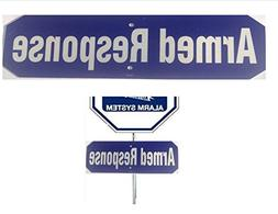 ARMED RESPONSE SECURITY SIGN - ADD ON SIGN FOR YOUR EXISTING