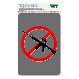 No Assault Rifles Home Business Office Sign - Window Sticker