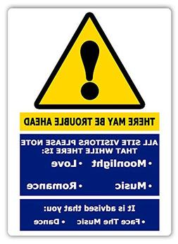 Yohoba Attention- Face The Music & Dance Metal Wall Sign Pla