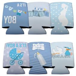 """New Baby """"It's A Boy"""" Can Coolers, 6 Designs, Set of 6"""