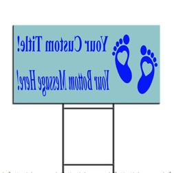 Baby Shower Custom Title Message Style 20 Plastic Yard Sign