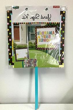 Baby Shower Yard Sign Kit: Customizable 111 Adhesive letters