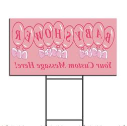 Baby Shower Your Custom Message Style 1 Plastic Yard Sign /F