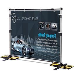 T-Sign 8'x8' Professional Backdrop Banner Stand Large Tube H