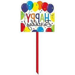 Balloon Bash Birthday Party Yard Sign Decorations, Plastic,