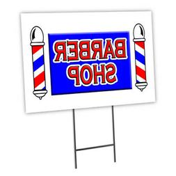 """BARBER SHOP 18""""x24"""" Yard Sign & Stake outdoor plastic coropl"""