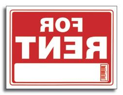 Bazic 9 X 12 For Rent Sign, Case of 24