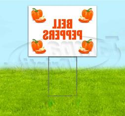 BELL PEPPERS 18x24 Yard Sign WITH STAKE Corrugated Bandit US