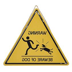 Juvale Beware Dog Metal Sign - Vintage Construction Warning-