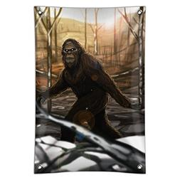 Bigfoot Sasquatch Walking in the Woods Home Business Office