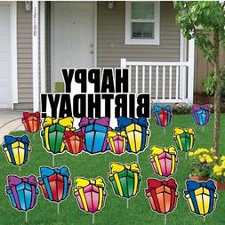 Birthday Yard Cards - Happy Birthday Greetings w/Presents Ya